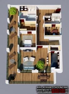 Randari 3D Interior Ansamblu Apartamente Complex