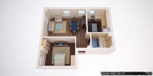 randari 3d interioare apartamente