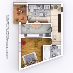 Randari 3D Mihai Bravu Residence