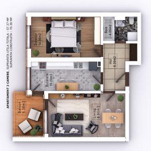 Randare 3D Mihai Bravu Residence Bravu Global City Residence (2)