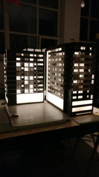 macheta de arhitectura iluminata