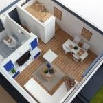 macheta casa cu mobilier