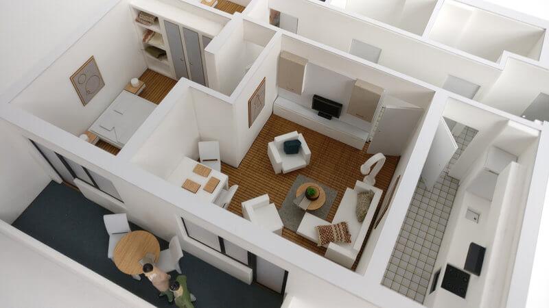 macheta detaliu apartament