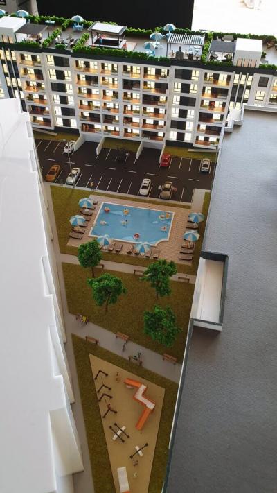 macheta parc piscina